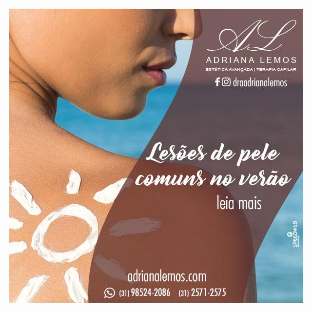 Lesões de pele comuns no verão